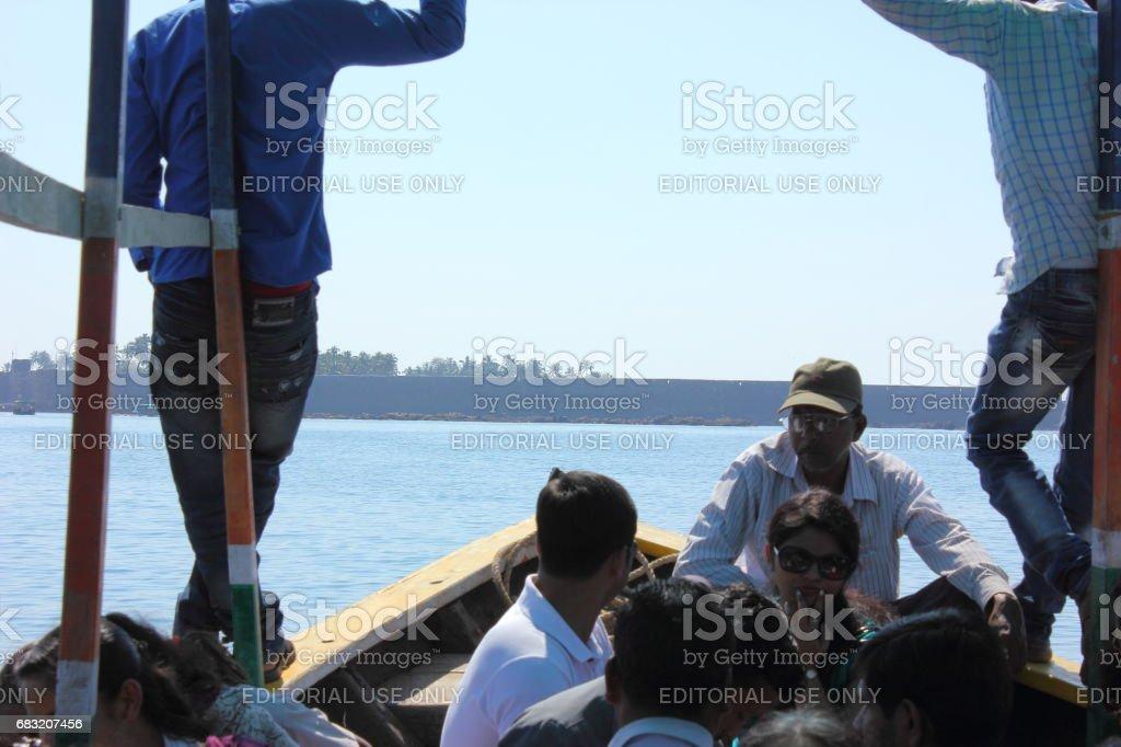 ボートで旅行の際 ロイヤリティフリーストックフォト