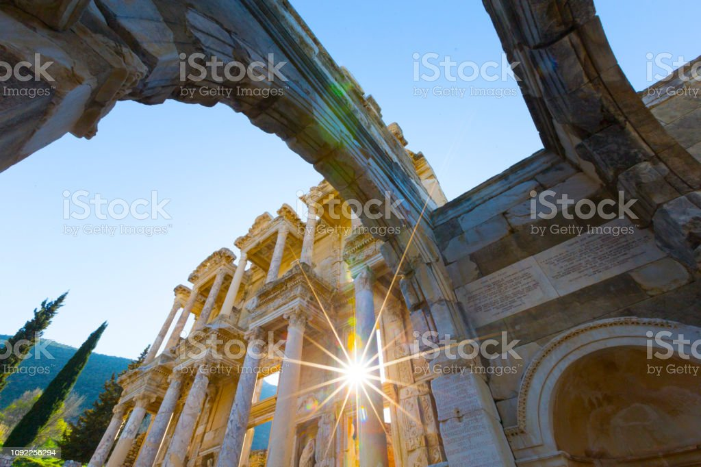 Izmir Turkey July 26 Tourists Visit Ephesus On July 26 2018 In Izmir Ephesus Is The Most Visited Historical Place In Turkey Stock Photo Download Image Now Istock