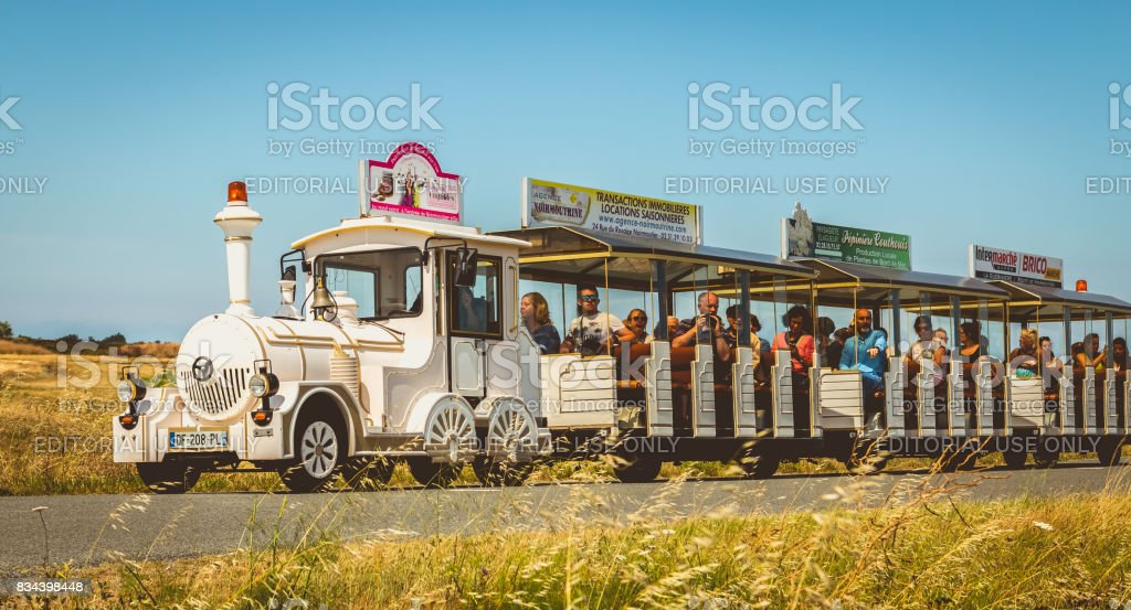tourists visit the island of Noirmoutier in France stock photo
