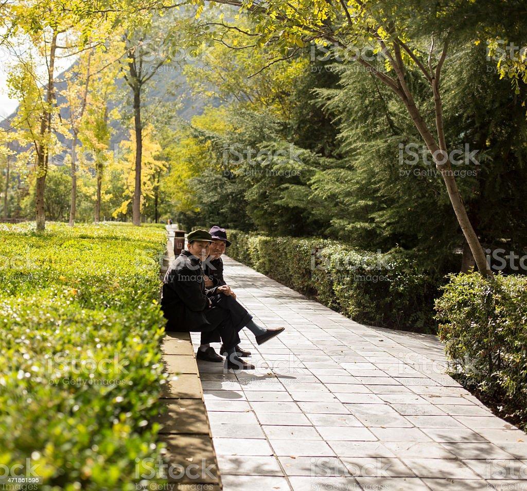 Tourists visit the sights of China stock photo