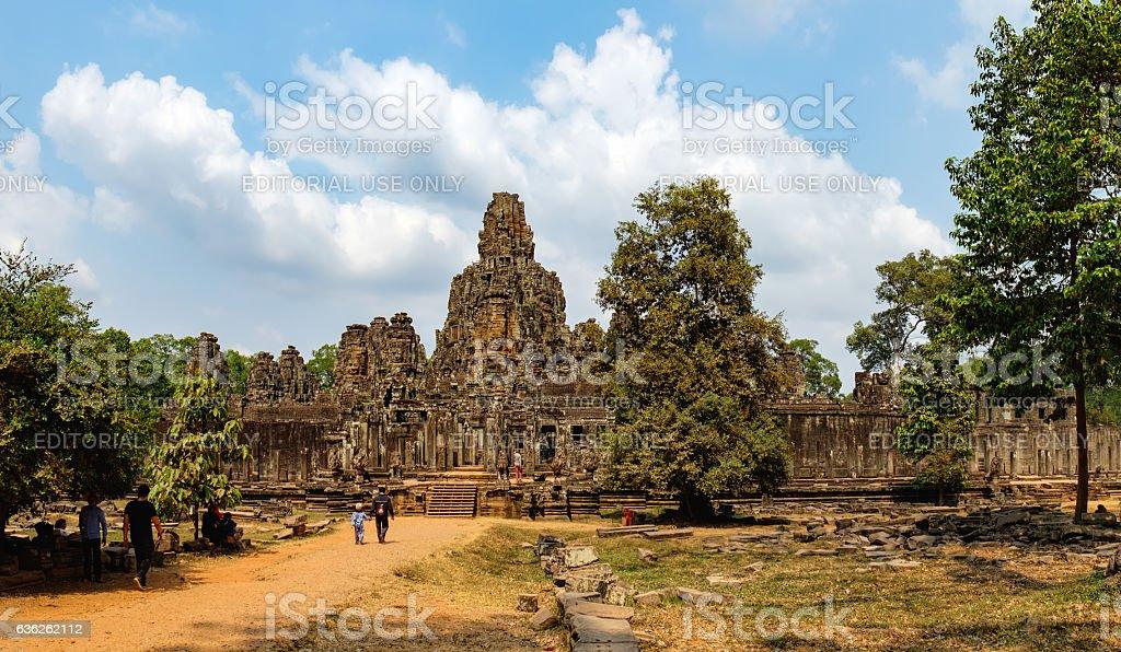 Tourists visit to Prasat Bayon, Cambodia stock photo