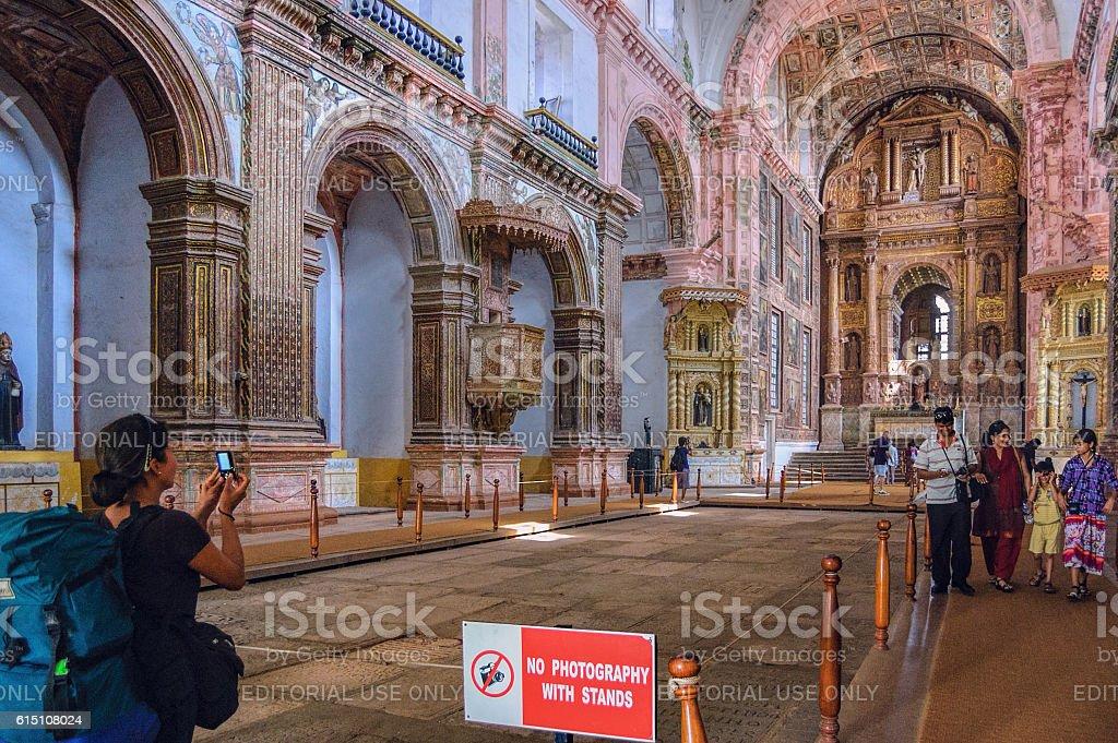 Tourists visit to the famous landmark. stock photo