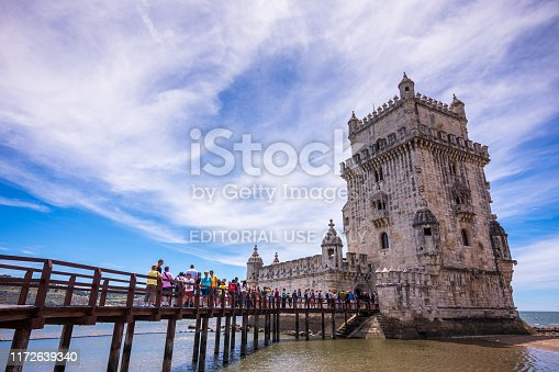 Belem Tower, also known as the Tower of St. Vincent is located along the banks of the Tagus River. The 4-story limestone tower was built in 1515 to defend Lisbon from invaders and to welcome the city's friends.