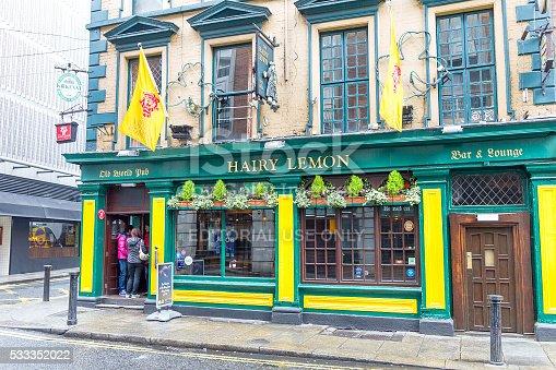istock Tourists walking in the Temple Bar area, Dublin, Ireland 533352022