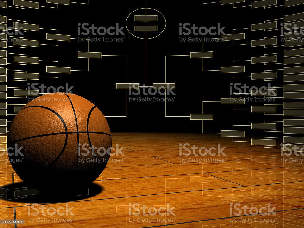 Tournament Time It's time for March Madness! Use this image for all of your NCAA basketball tournament materials - office parties, happy hours, Final Four get togethers. I'd love to know how this image is used; drop me a line and let me know! If you like this pic, I'd be honored if you'd leave a rating as well. Basketball - Sport Stock Photo