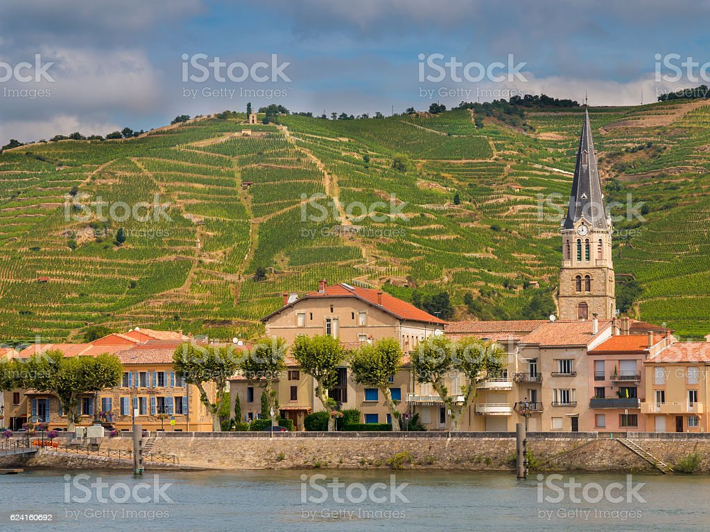 Tournon sur Rhone stock photo