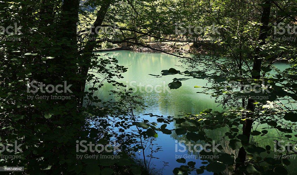 Tourquoise lagoon, Spain stock photo