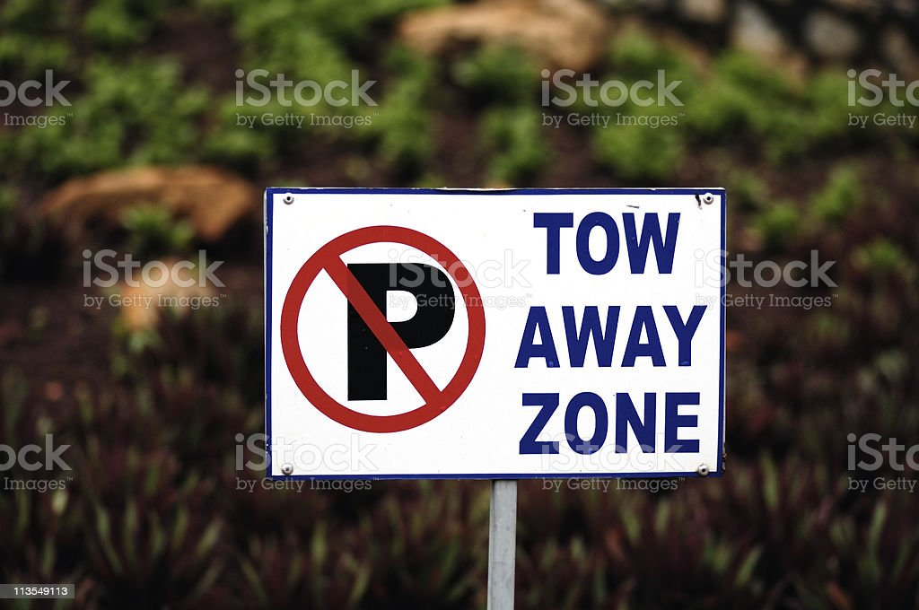 Tow away zone II royalty-free stock photo