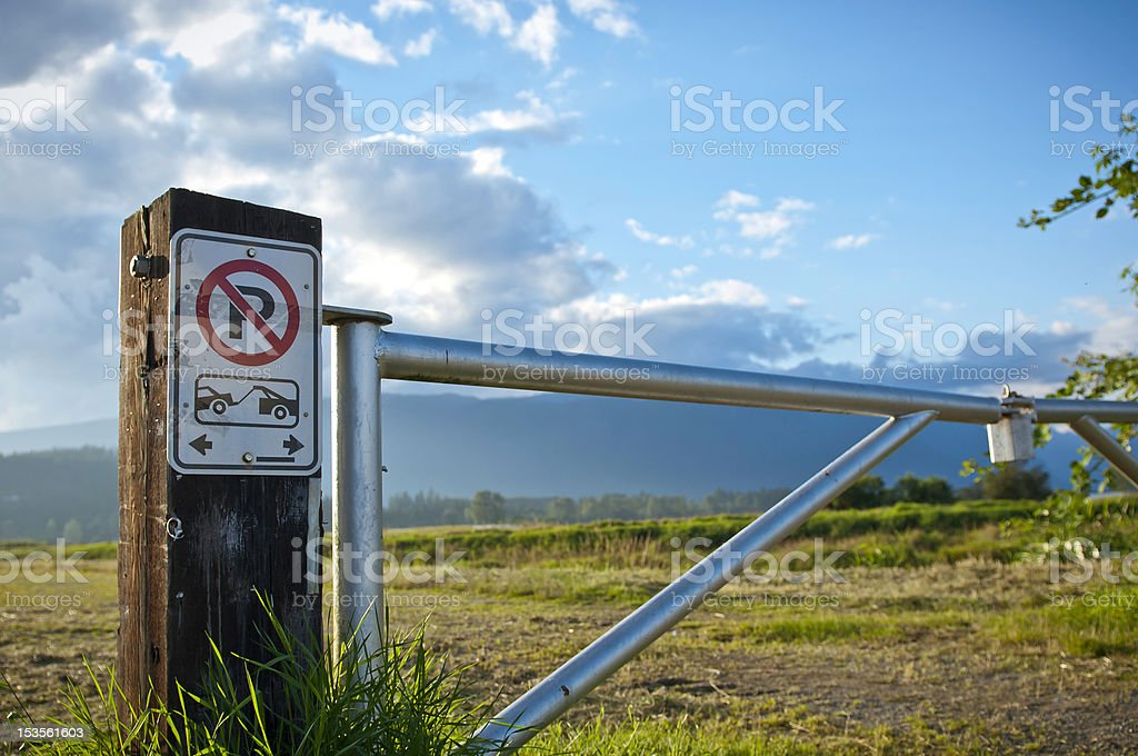 Tow away zone stock photo
