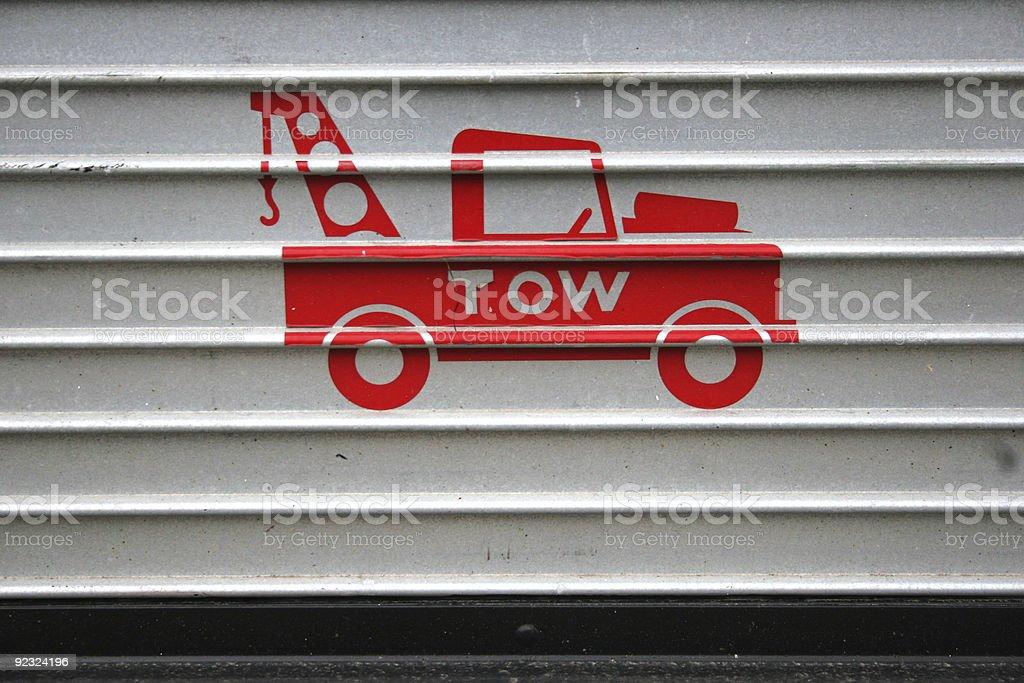 Tow royalty-free stock photo