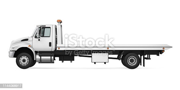 Tow Truck isolated on white background. 3D render
