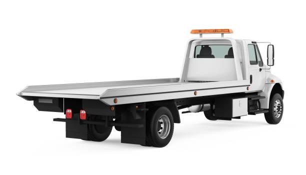 schlepptau isoliert - pickup trucks stock-fotos und bilder