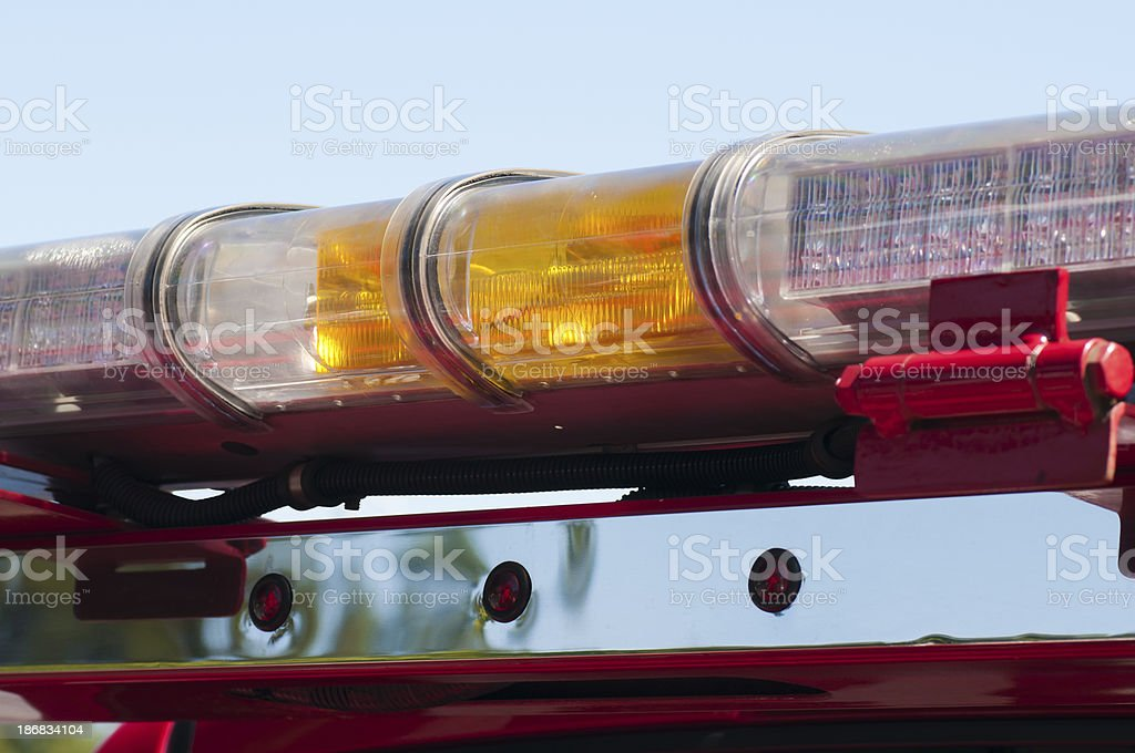 Tow Truck Lights Close-up royalty-free stock photo