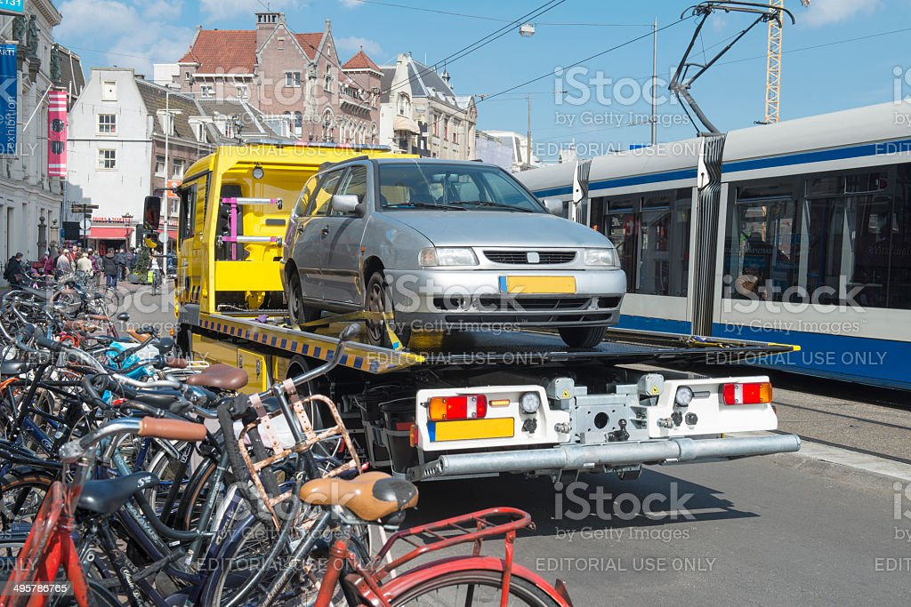 Tow Truck urban stock photo