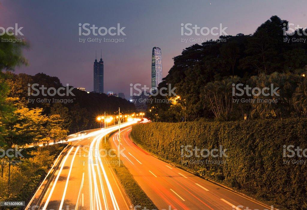 Towards big cities foto stock royalty-free