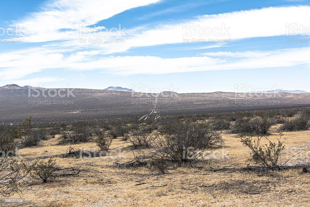 Towards Death Valley, California foto royalty-free