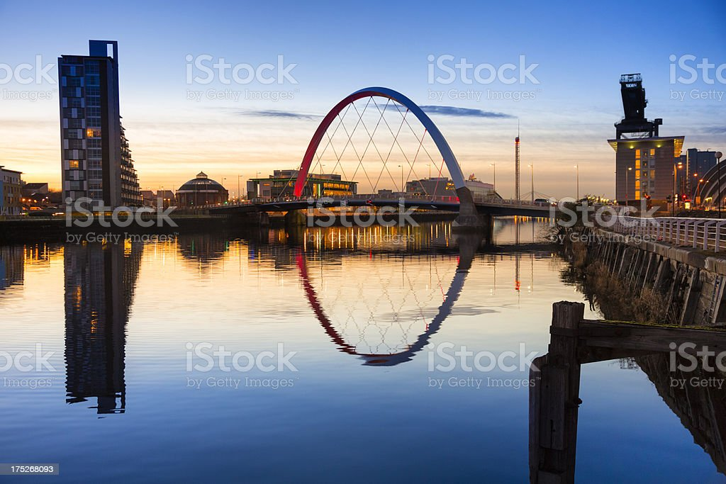 Towards The Finnieston Bridge, Glasgow stock photo