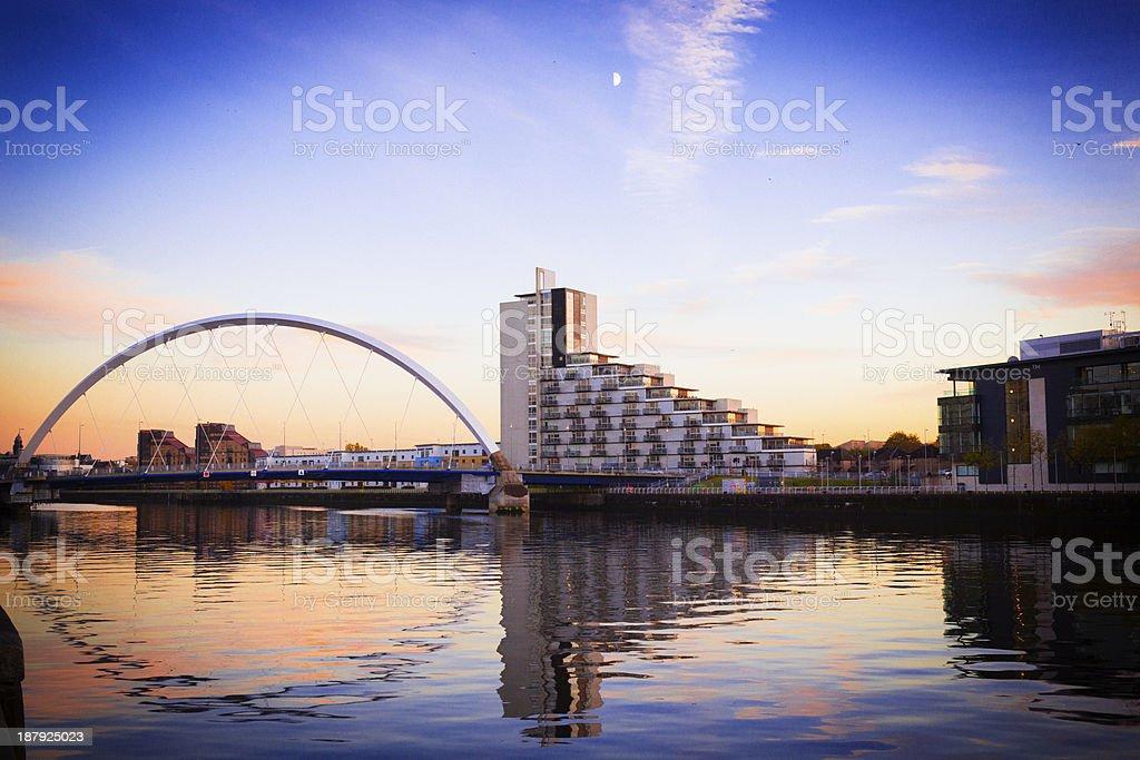 Towards The Finnieston Bridge, Glasgow royalty-free stock photo