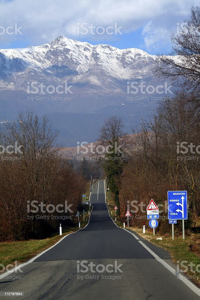 towards the mountain royalty-free stock photo