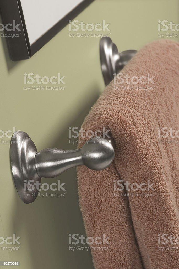 Towel Bar stock photo