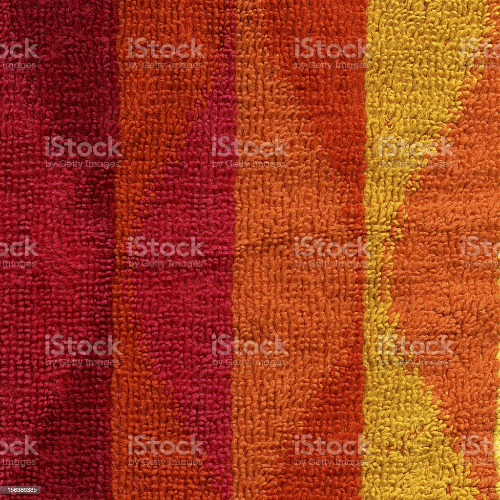 Towel Cloth Texture - Pink, Red, Orange and Yellow XXXXL royalty-free stock photo