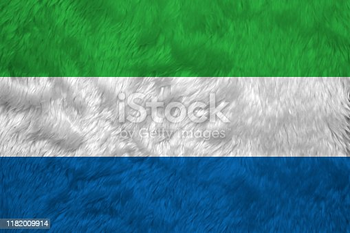 istock Towel fabric pattern flag of Sierra leone, Crease of Sierra leonean flag background. 1182009914