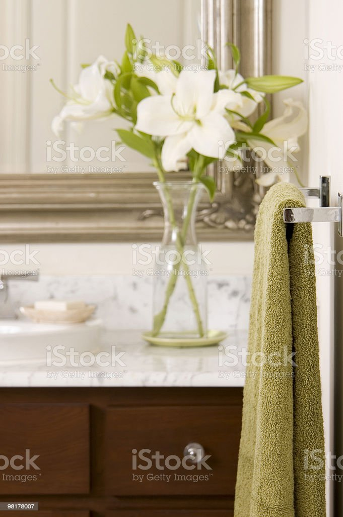 Towel in the Bathroom royalty-free stock photo