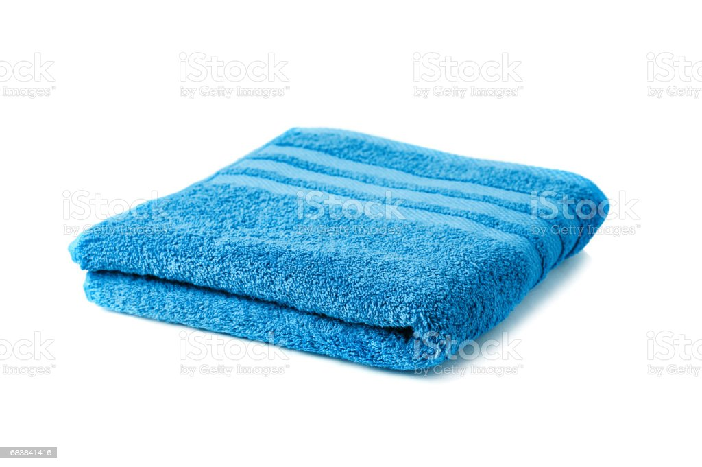 Towel isolated on white background - foto stock