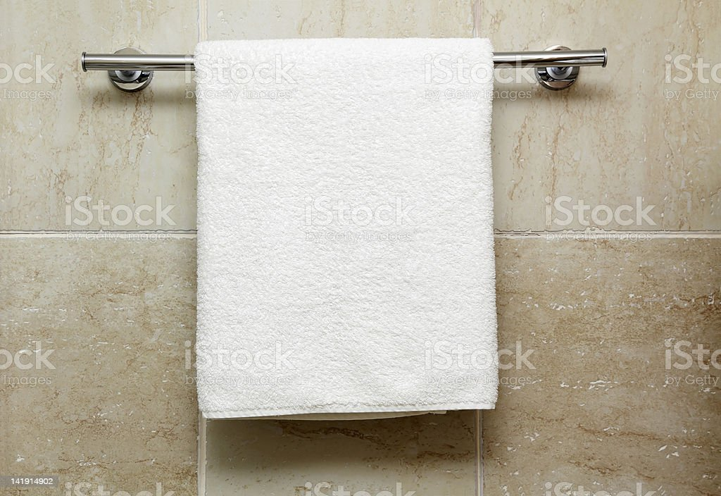 towel on a hanger stock photo