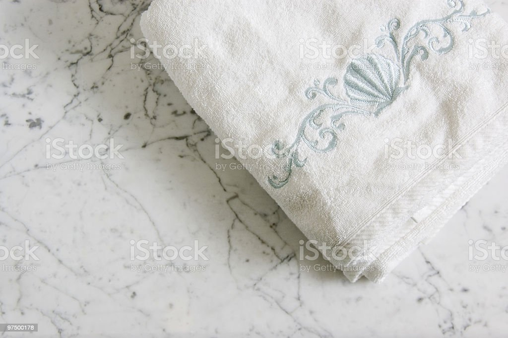 Towel on the Vanity royalty-free stock photo