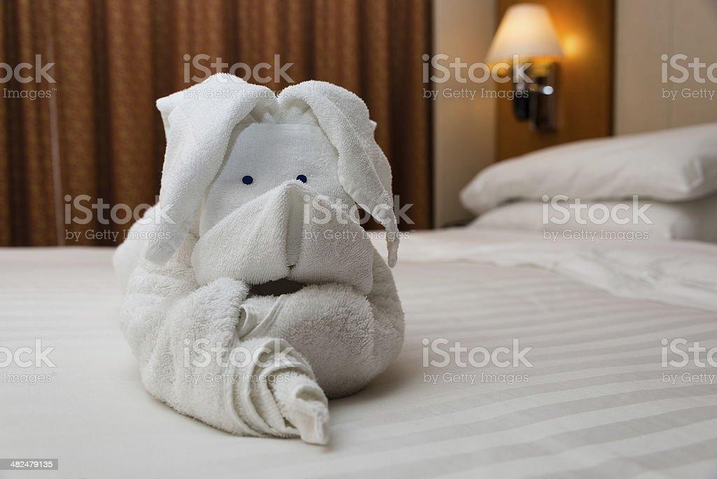 Towel Origami Art stock photo