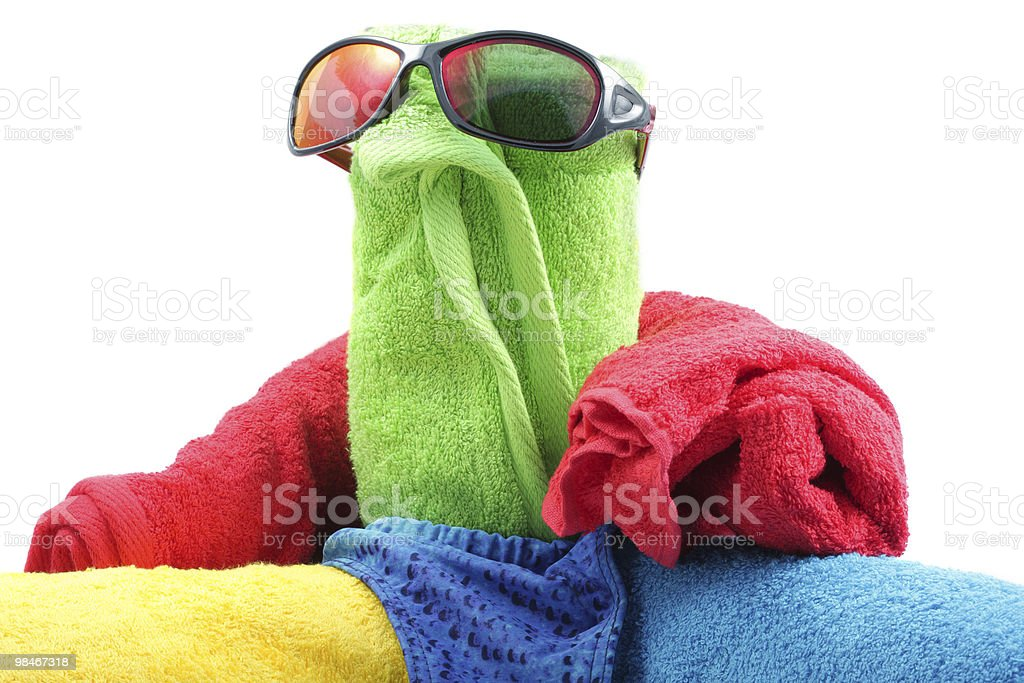 Towel person royalty-free stock photo