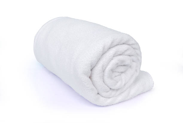 Towel.(with Clipping Path). stock photo