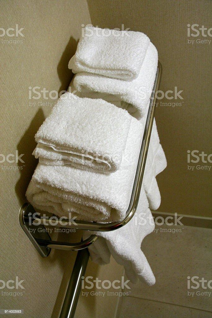 Towel Rack royalty-free stock photo