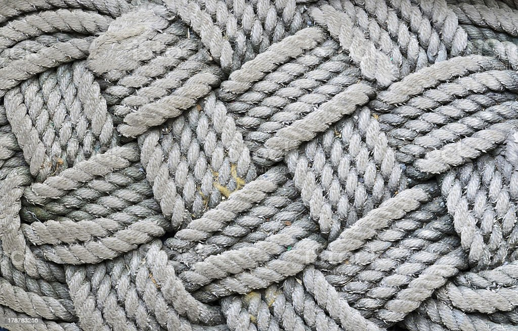 towel ropes sack as background royalty-free stock photo