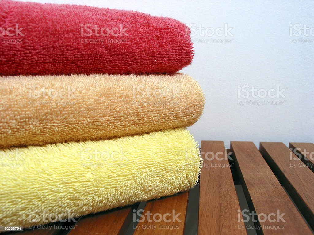 Towel stack 3 royalty-free stock photo