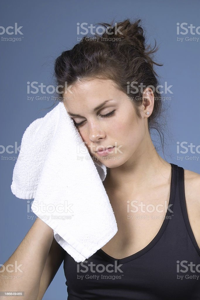 Toweling Off stock photo