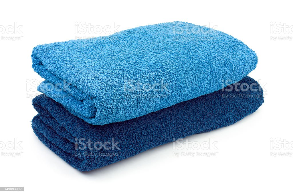 Towels and soap stock photo