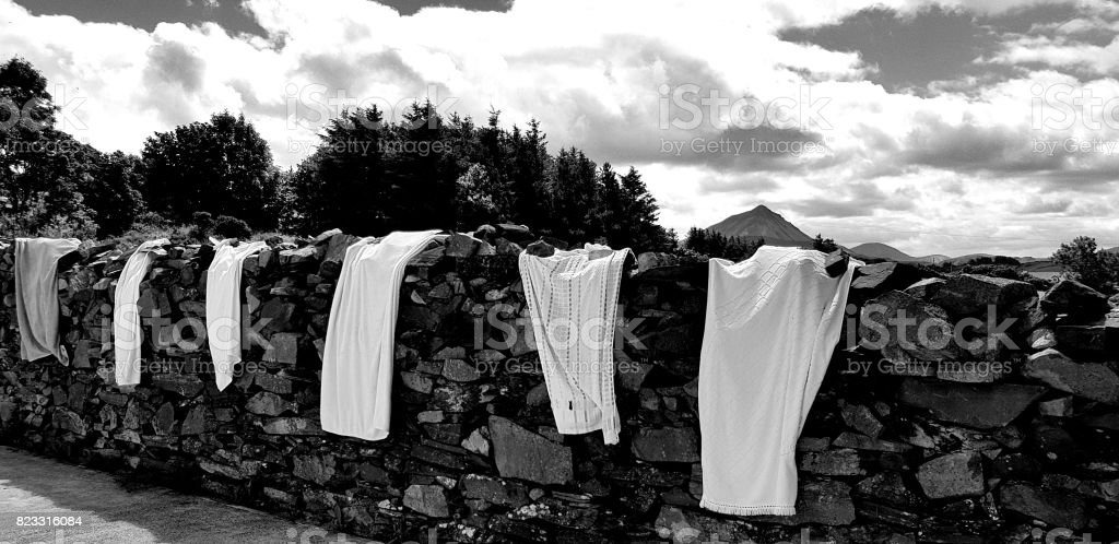 Towels on the Wall stock photo