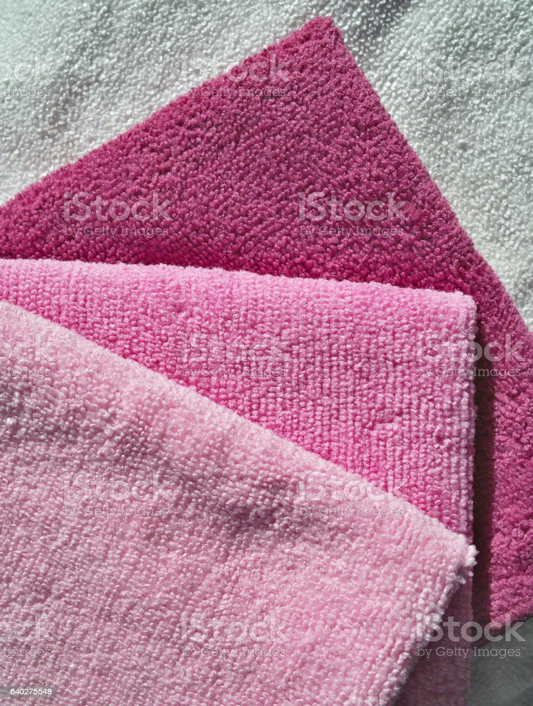Towels set. stock photo