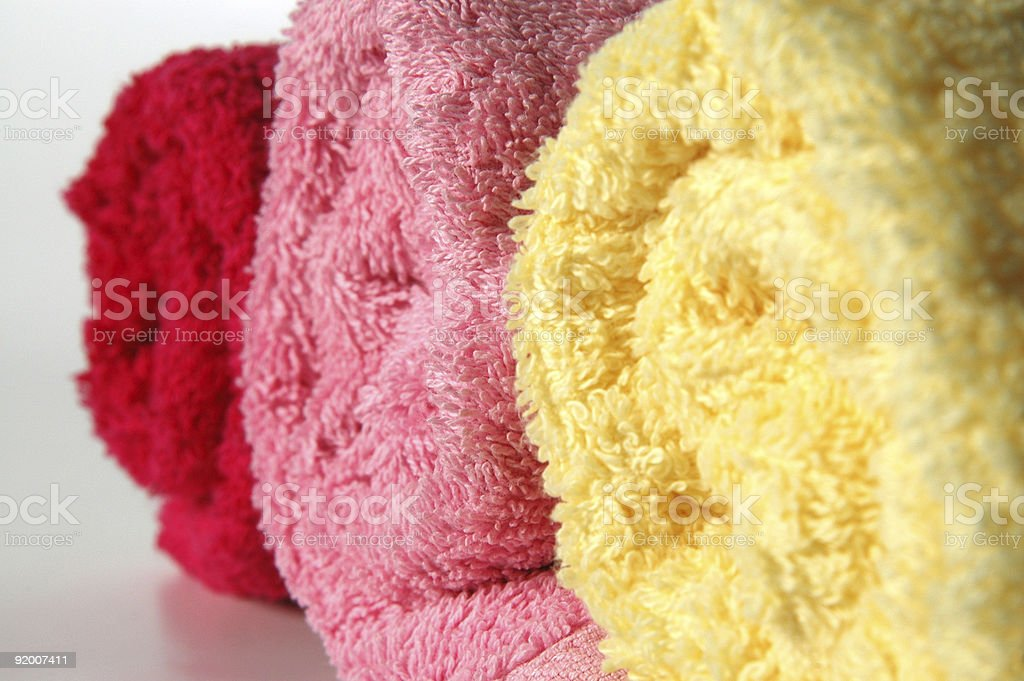 Towels SPA Treatment Macro royalty-free stock photo