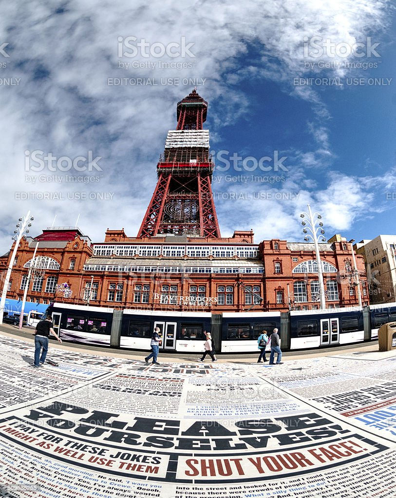 Tower and Comedy Carpet stock photo