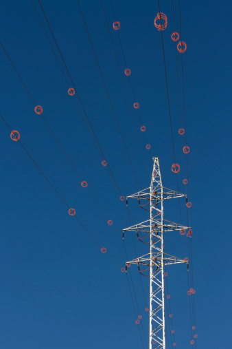 Tower and Power Line with Diverter - Tendido electrico