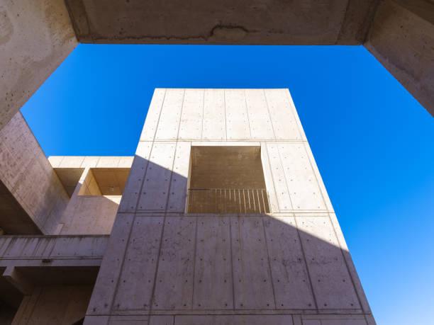Tower and Window - Salk Institute stock photo