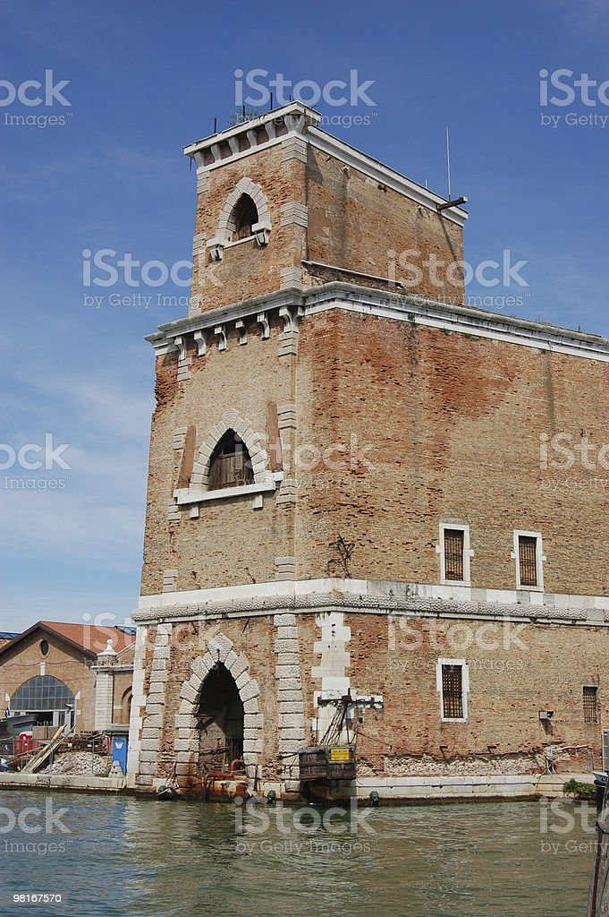 Tower, Arsenale, Venice royalty-free stock photo
