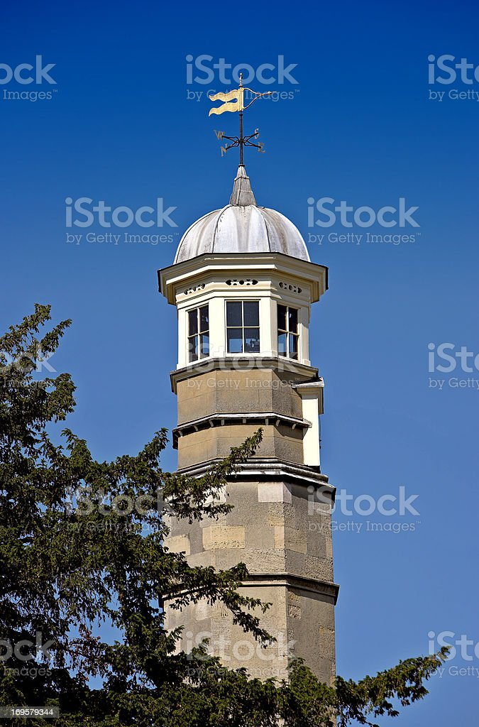 Tower at Cambridge University royalty-free stock photo