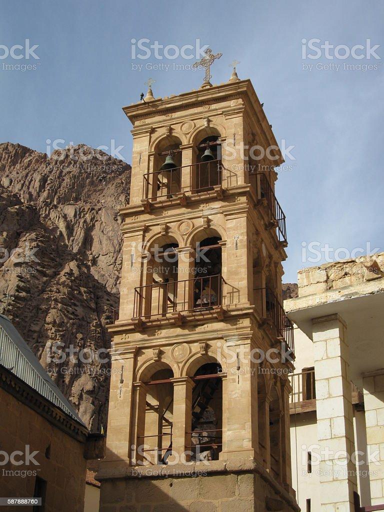 Tower at Mt. Sinai, Egypt stock photo