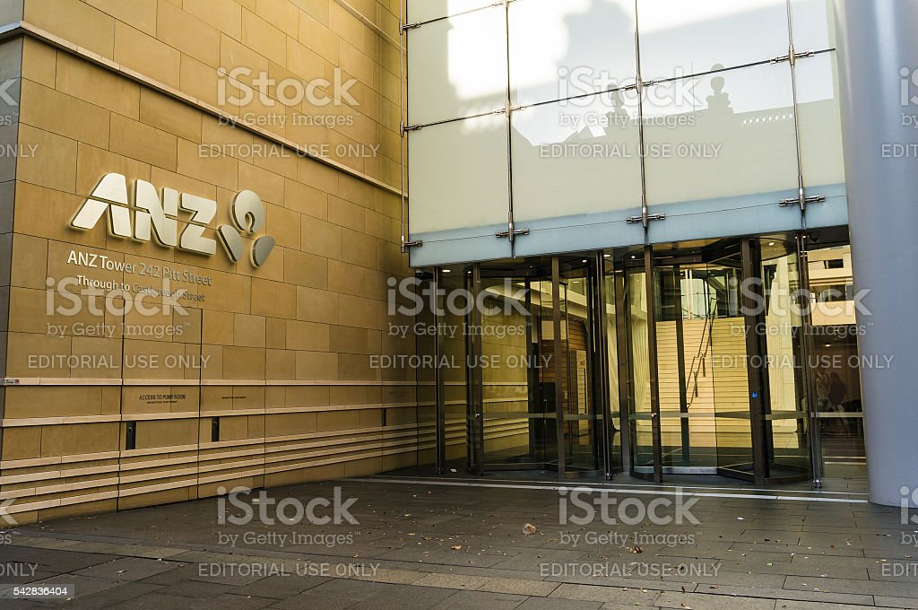 ANZ Tower, bank branch, Pitt street, Sydney, Australia stock photo