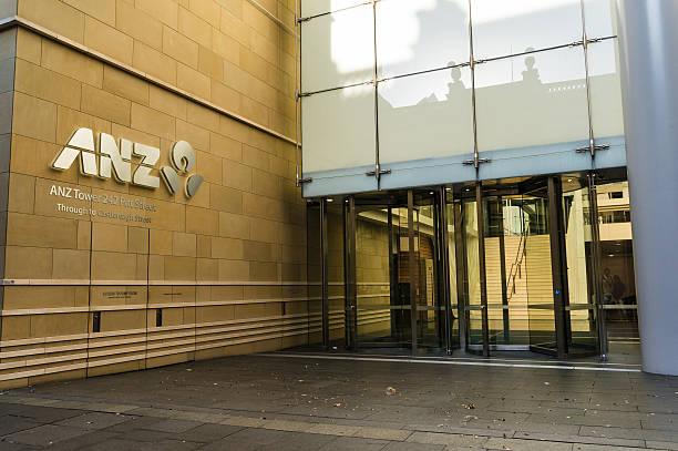 ANZ Tower, bank branch, Pitt street, Sydney, Australia stock photo
