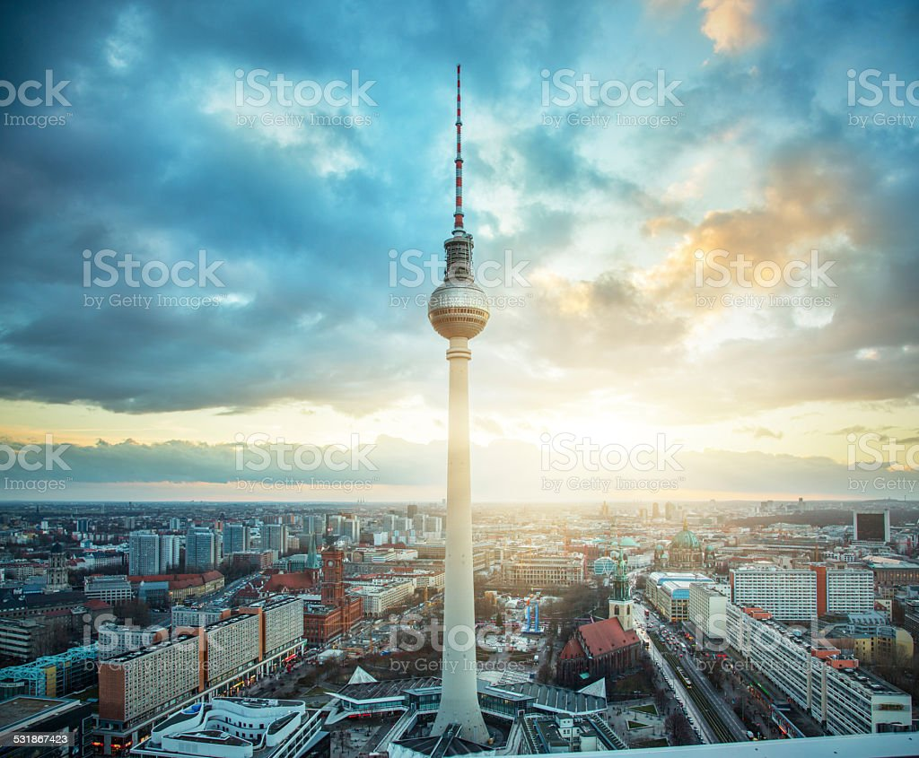 Fernsehturm - Berlin tv tower stock photo